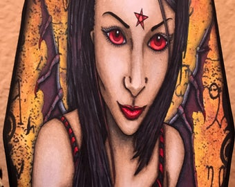 Spell Caster Dark Fairy - a spellbinding gothic fantasy fairy digi art stamp!