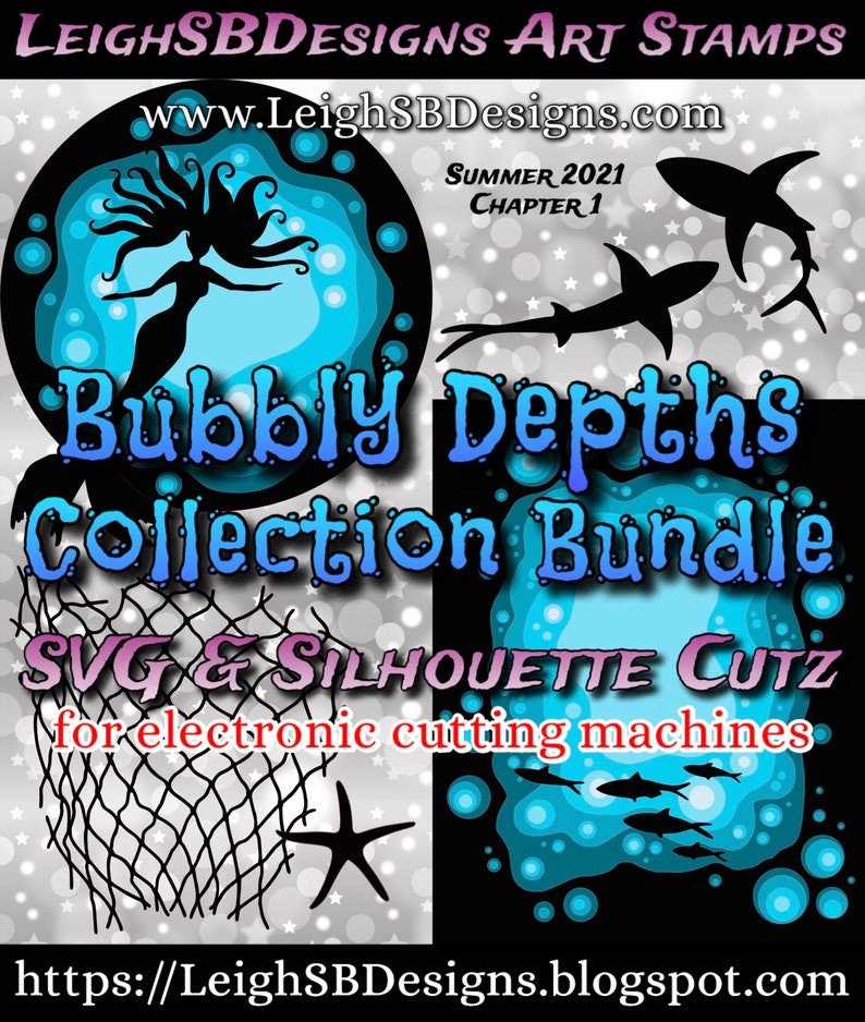Bubbly Depths BUNDLE  SVG  Silhouette Cutz Bubbly Depths image 0