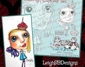 Oddleigh Cupcake set - 3 digi designs by LeighSBDesigns