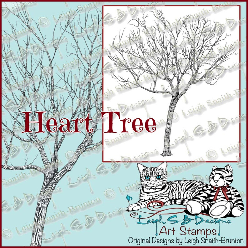 Heart Tree  realistic drawing of a bare tree with heart image 0