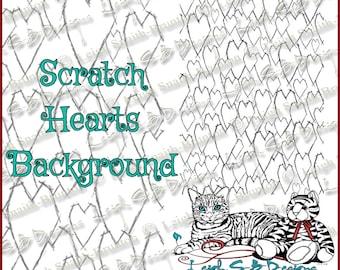 Scratch Hearts Background - Dark Valentine Collection by Leigh Snaith-Brunton of LeighSBDesigns