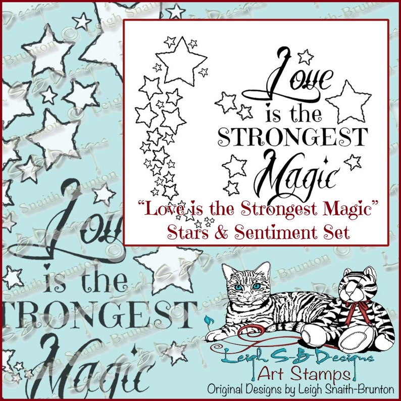 Love is the Strongest Magic  Sentiment and Raggedy Stars image 0