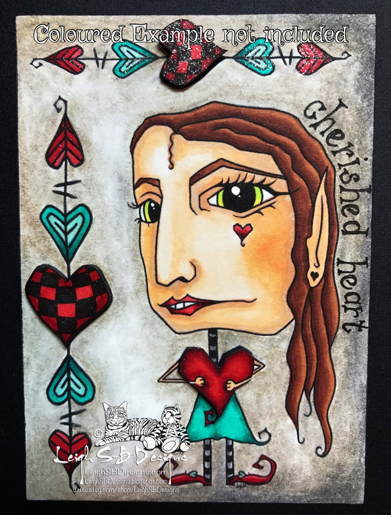 Whimsical Oddleigh Cherished Heart stylized quirky caricature image 0