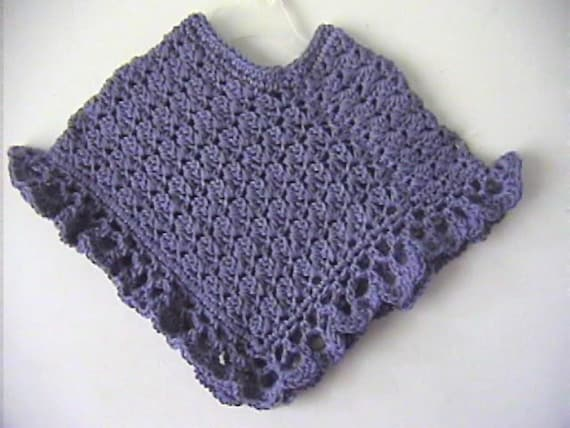 Purple Mist Girls Poncho Crochet Pattern Instant Download Etsy