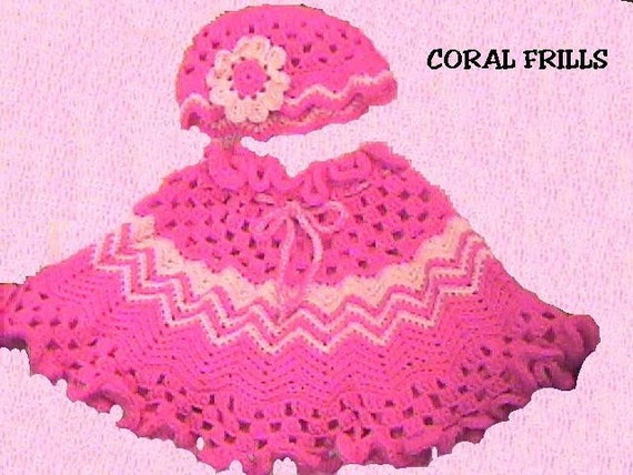 Coral Frills Girls Poncho Crochet Pattern Instant Download Etsy