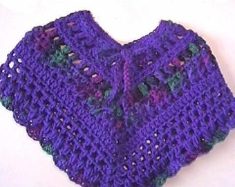 Baby Jewels Original CROCHET PATTERN for a Baby Toddler Poncho - INSTANT Download