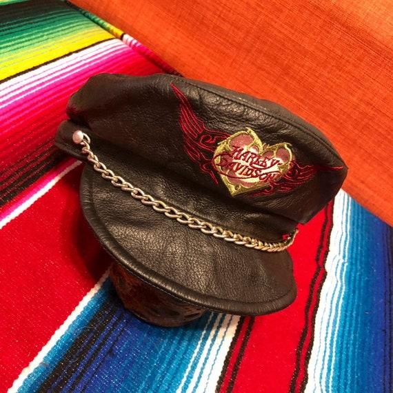 4836c5c20 Ladies Harley Davidson Leather Road Captain Hat
