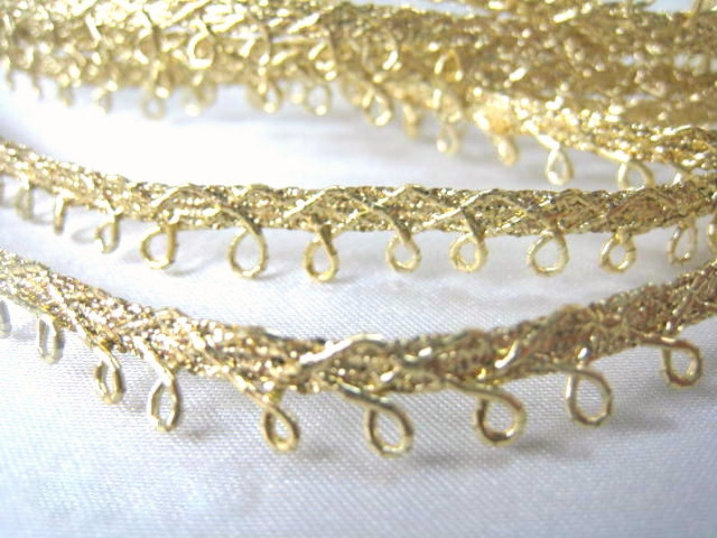 Metallic Gold or Silver Picot Edge Sewing or Craft Narrow Petite Trim