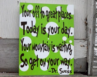 Dr. Suess Nursery Child Room Sign