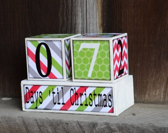 Christmas Countdown Advent blocks