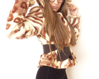 Elegante Damen Camouflage Jacke Mantel wolle Futter
