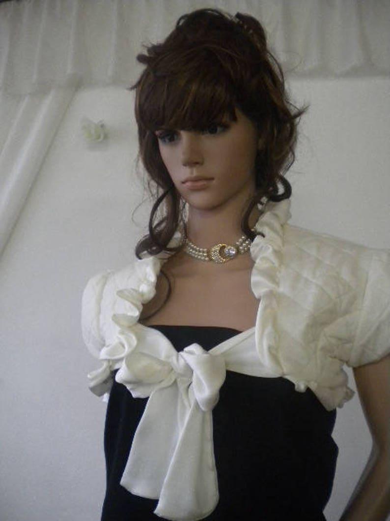 Elegant ladies bolero with lining.