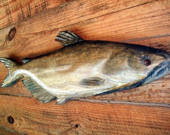 Items Similar To Flathead Catfish 31 Woodworking Sculpture Chainsaw