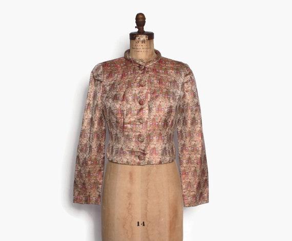 Vintage 30s Metallic Silk Jacket / 1930s - 40s Ivo