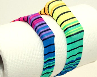 Rainbow Stripes - Fitness Band for Step Trackers - Spandex Bracelet