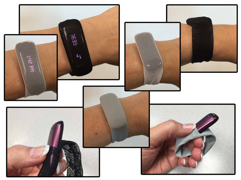 Step Tracker Bracelet for Fitbits and More PurpleBlue Animal Print Printed Spandex