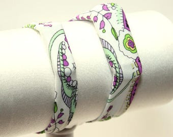Purple Flowers - Fitness Band for Step Trackers - Spandex Bracelet