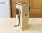 Vintage Ice-o-Mat Almond and Stainless Steel Ice Crusher, White Ice O Matic Wall Mount Ice Maker, 1970s Retro Kitchen