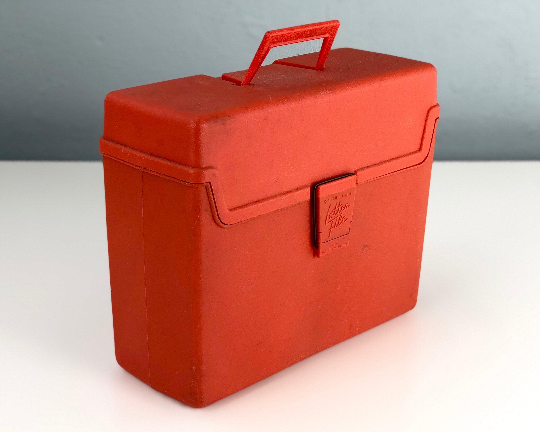 Vintage File Box, Plastic Storage Case by Sterling Letter File