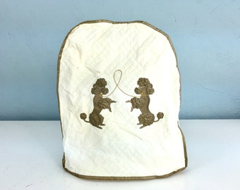 Poodle Mixer Cover, Quilted Mixer Cover, Antique Vintage Stand Mixer Storage, 1950s Kitchen Decor