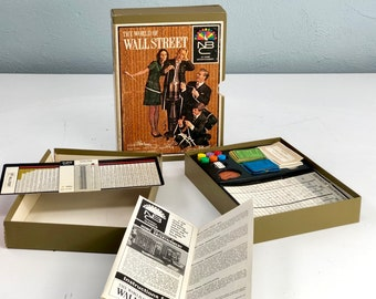 1969 Vintage The World of Wall Street NBC Game, 1960s Hasbro Board Game