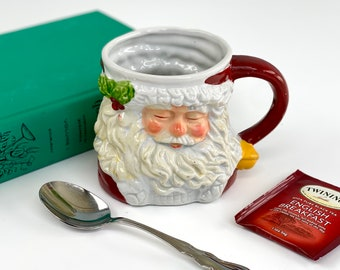 Vintage Santa Claus Mug, Antique Christmas Decor, Vintage Father Christmas, Jolly St Nick, Decor Only