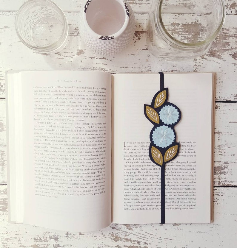 Flower Bookmark   Booklover Gift  Reader Gift  Unique image 0