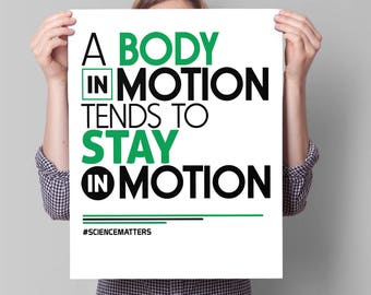 March for Science Poster, PRINTABLE Science March Sign | science march protest poster, march for science sign, protest sign: body in motion