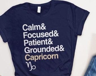 d9896403 Capricorn Shirt | Women Capricorn Gifts, Zodiac Gift, Capricorn Tshirt,  Star Sign Traits, Capricorn Graphic Tee, January Birthday T Shirt