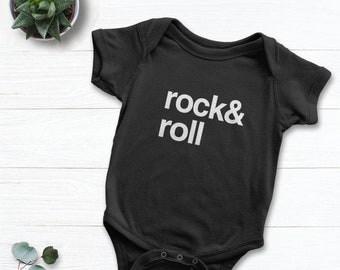 0df9b8956fbc Rock and Roll Baby Bodysuit | Hipster Kids Clothing, Unisex Baby Clothes or  Toddler Tee, Music Lover Baby Shower Gift Idea, Funny Baby Shirt