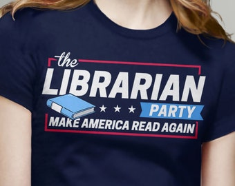 Librarian Gifts for Readers: Librarian Party | reading shirt, book tshirt, librarian shirt, nerd tee shirt, nerdy gifts for teacher t-shirt