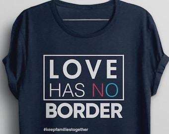 2b314d055dc3 Immigration March Shirt, Immigrant tshirt, Families Belong Together Love  Has No Border t-shirt, child immigrant migrant children protest tee