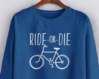 EAT PERSONALISED TOP GIFT CYCLING BIKE MOUNTA RIDE HOODIE ADULT//KIDS SLEEP