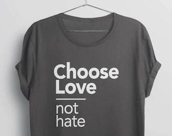 4c42d6fadc Choose Love Shirt | equality t shirt, love is love t-shirt, equal rights  shirt, I choose love tshirt, human rights shirt, choose joy shirt