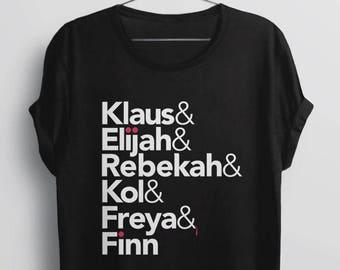 The Originals Vampire Shirt, The Originals TV Show t-shirt, vampire gift, women tee Mikaelson Helvetica, Klaus Eligah Rebekah Kol Freya Finn