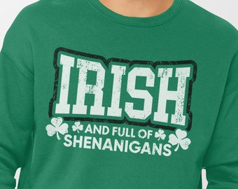 be4d2529 Irish Sweatshirt for St Patricks Day | Sweater or Hoodie, St Pattys Day  Shirt, Women Men Kids, Shenanigans Sweatshirt, St Paddy Irish Hoodie
