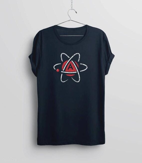 Atheist Shirt Atheist Symbol Shirt Anti Religion Shirt Etsy