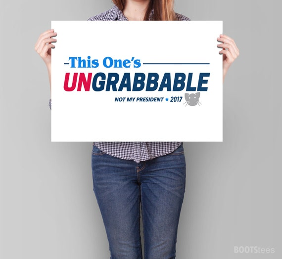 image about Printable Trump Sign referred to as Anti Trump Indicator: This Kinds Ungrabbable PRINTABLE protest indicator, political poster, womens march indication, womens legal rights signal, feminist poster
