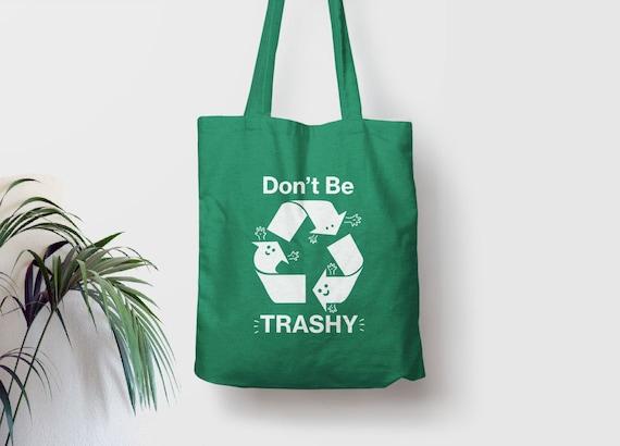 TREE HUGGER Tote Bag Environmentalist Gift Market Bag