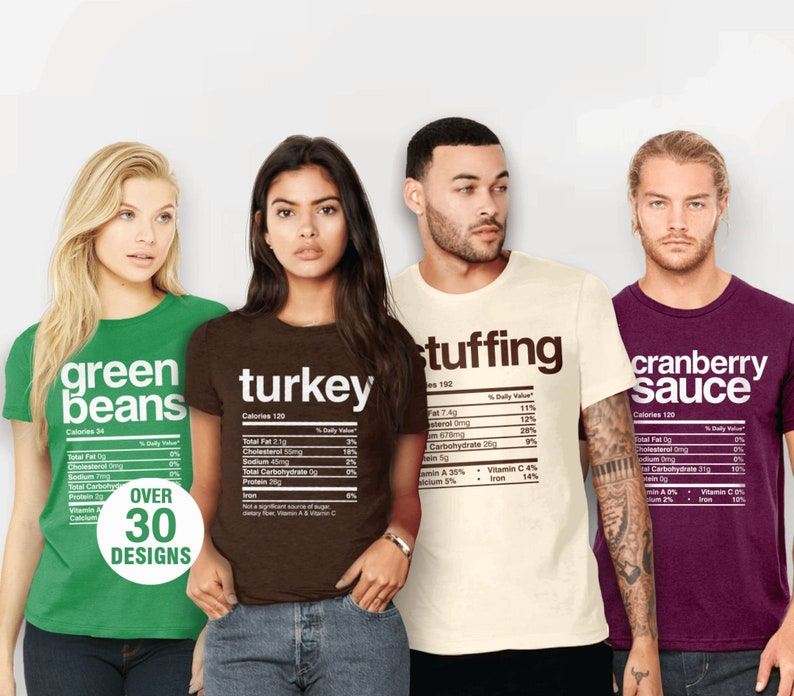 Matching Holiday Shirts  Family Thanksgiving Outfit Funny image 0