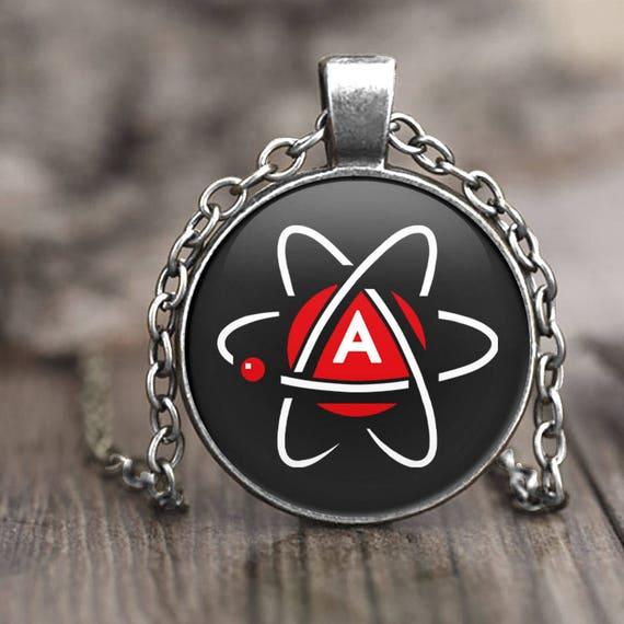 Atheist Symbol Necklace Atheist Jewelry Atheist Pendant Etsy