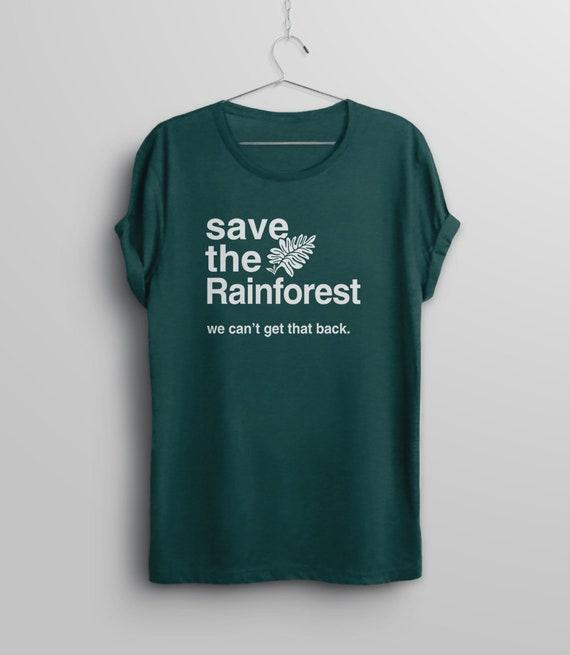 Save The Amazon T-shirt KIDS//UNISEX//LADIES//MENS climate change awareness