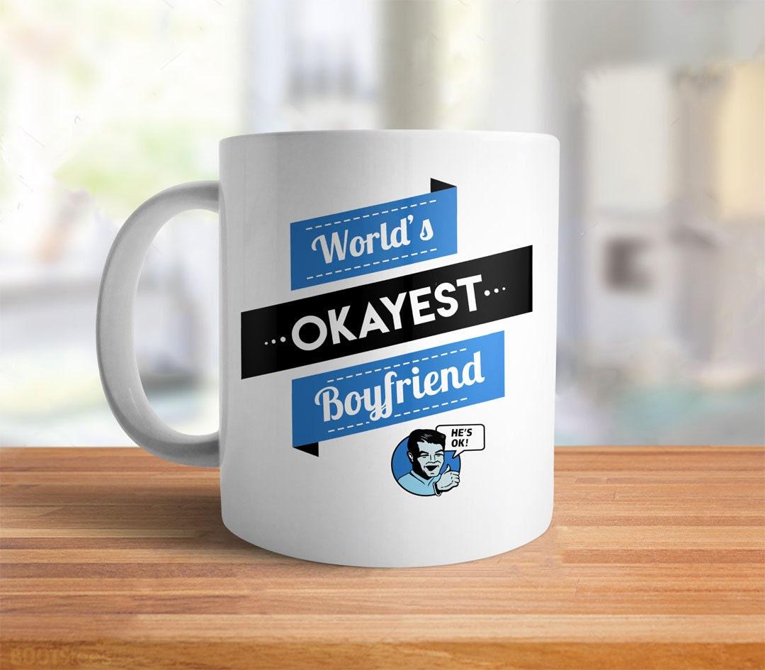 Lustige Freundgeschenk für Freund Becher Welten Okayest   Etsy