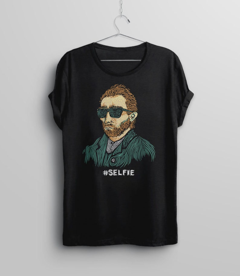 Van Gogh Shirt Hipster Shirt Funny Tshirt for Artist Gift image 0