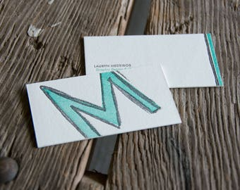 Custom diy letterpress printed business cards or calling custom business cards or calling cards 1 color and blind impression set of 200 eco friendly custom designed reheart