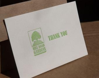 Custom diy letterpress printed business cards or calling custom folded note cards custom designed letterpress printed set of 50 eco friendly reheart Choice Image
