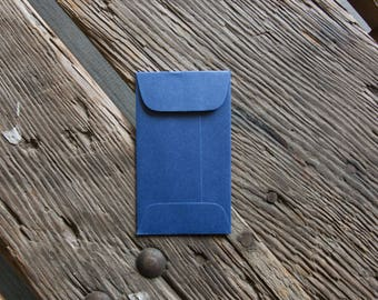 100 Coin Envelopes, galactic blue. Perfect for wedding favors, letterpress, crafts, etc