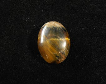 Tiger's Eye Cabochon 20x15mm Oval with 6mm Dome 13ctw #0123