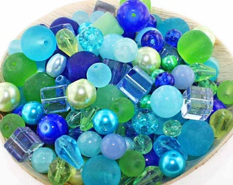 Glass Bead Mix Assorted 25 Caribbean Color Combination 6mm to 12mm - BMX019
