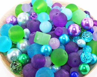 Peacock Color Beads Etsy